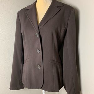 Eddie Bauer Chocolate Lined Blazer 14